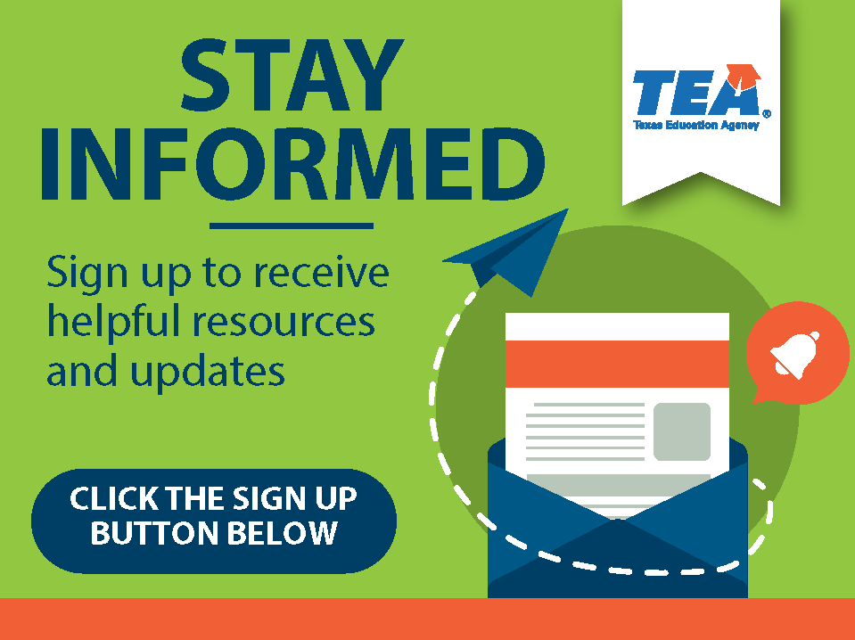 Stay Informed, sign up to receive helpful resources and upates